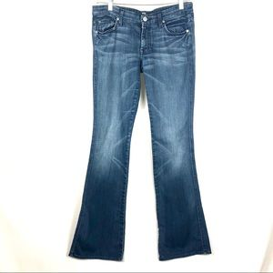 7 for all mankind A Pocket Flare Jean Mid-Rise 27